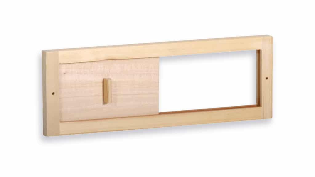 دریچه ی چوبی تهویه سونا