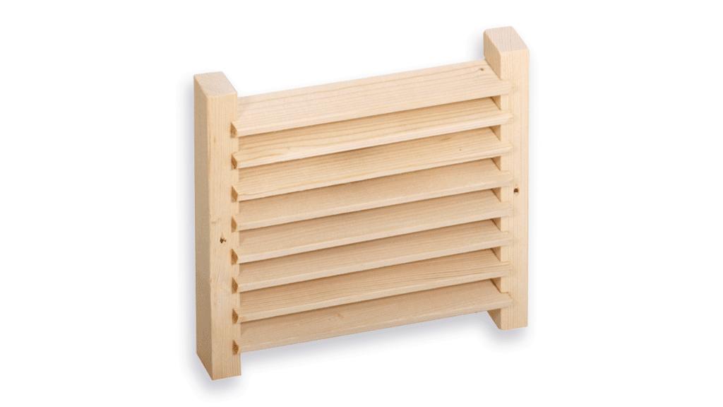 پنجره ی چوبی تهویه سونا