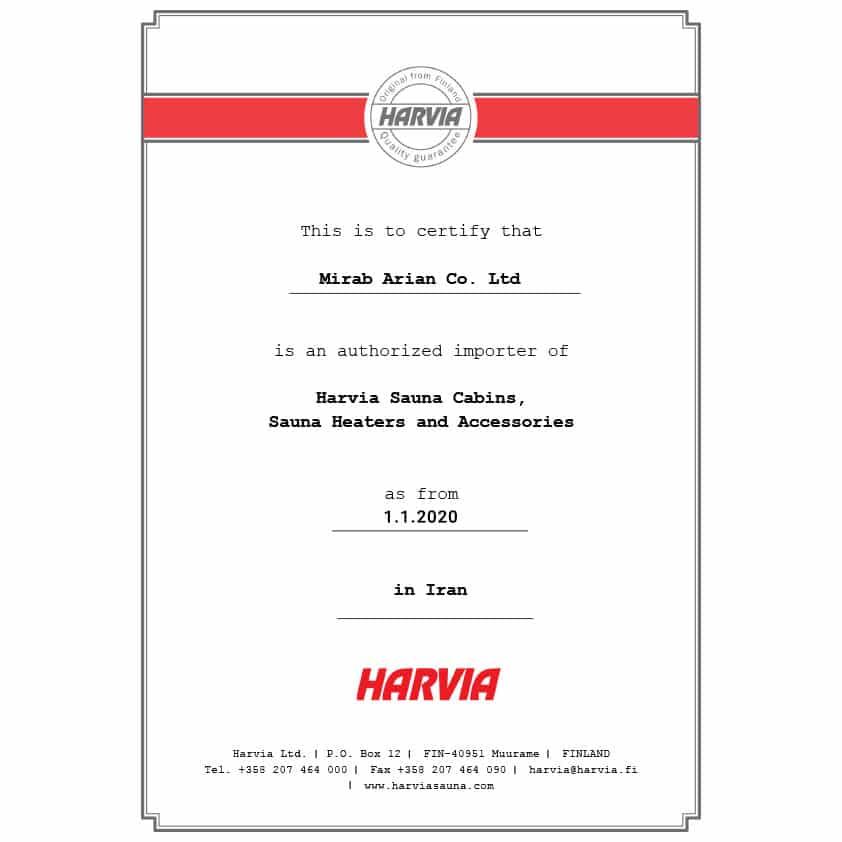 Licence-HARVIA